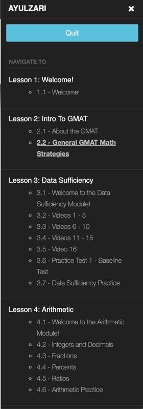 קורס GMAT אונליין