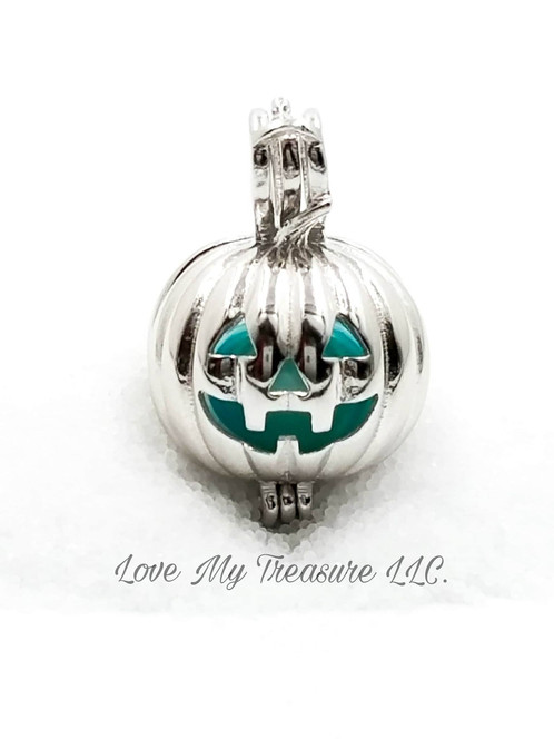Jack o lantern cage pendant ss aloadofball Choice Image