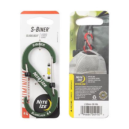 Nite Ize S-Biner Slide-Lock en Aluminium  Mousqueton avec Barrure