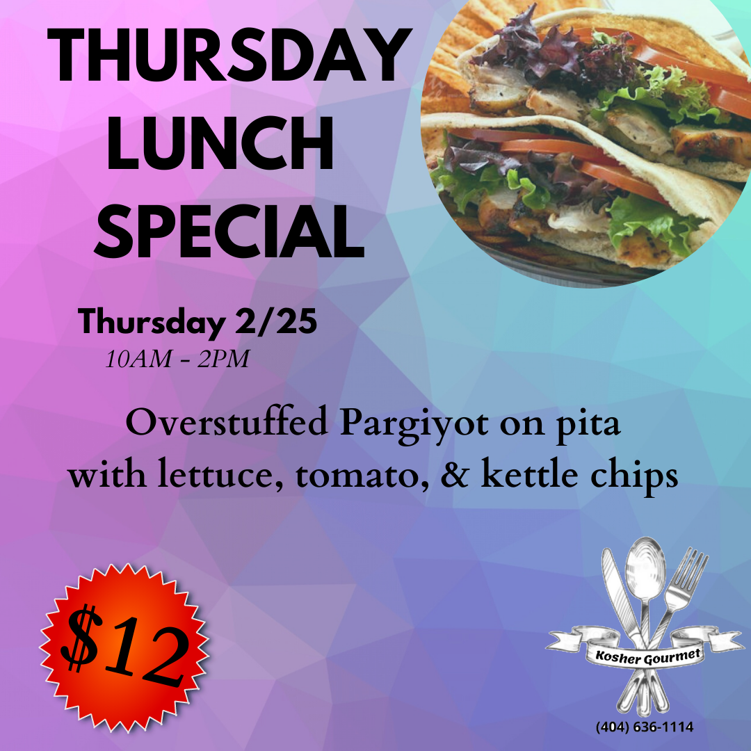 Thursday lunch special 2.25
