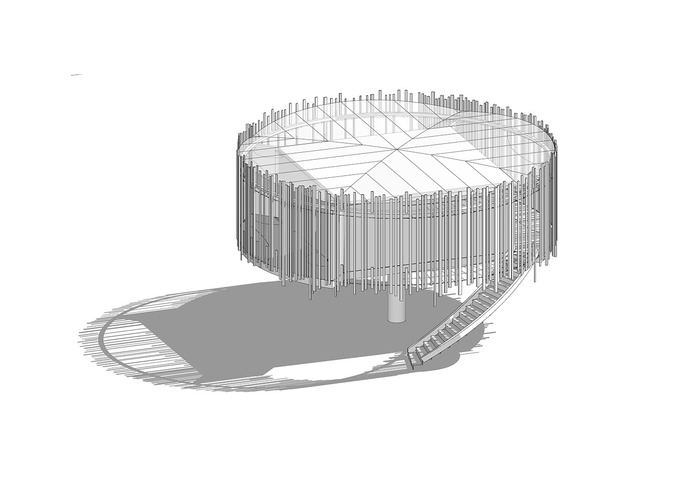 Axonometric view of Castan treehouse