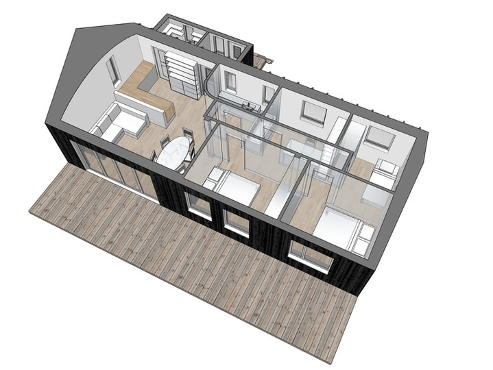 Perspective plan view of option 1