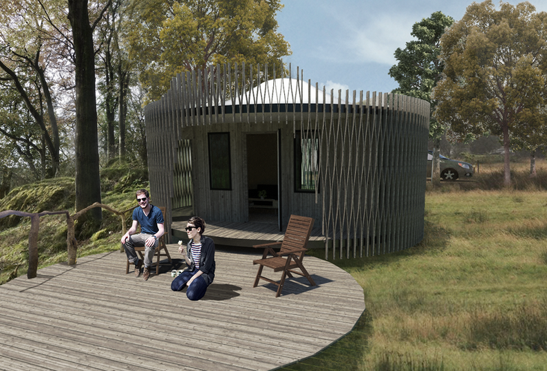 Luxury glamping pod in woodland Wales