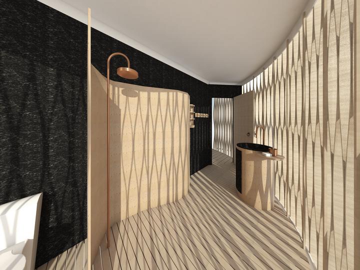 Shower room in pod