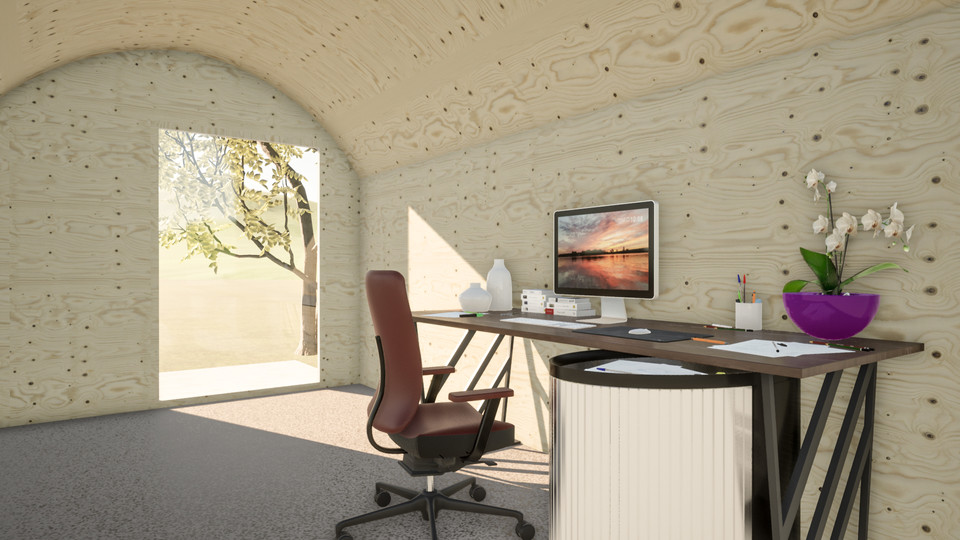 Pod used as office