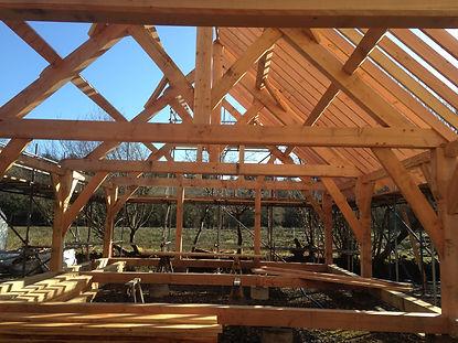 Barn under construction