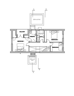 Low impact home first floor plan