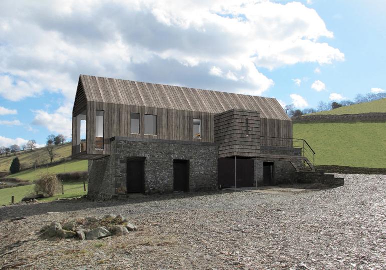Low impact barn conversion