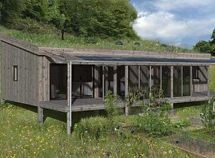 Timber clad modular building