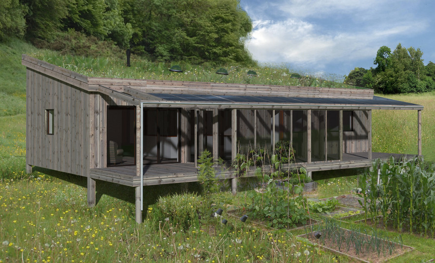 One planet modular home within the Welsh landscape