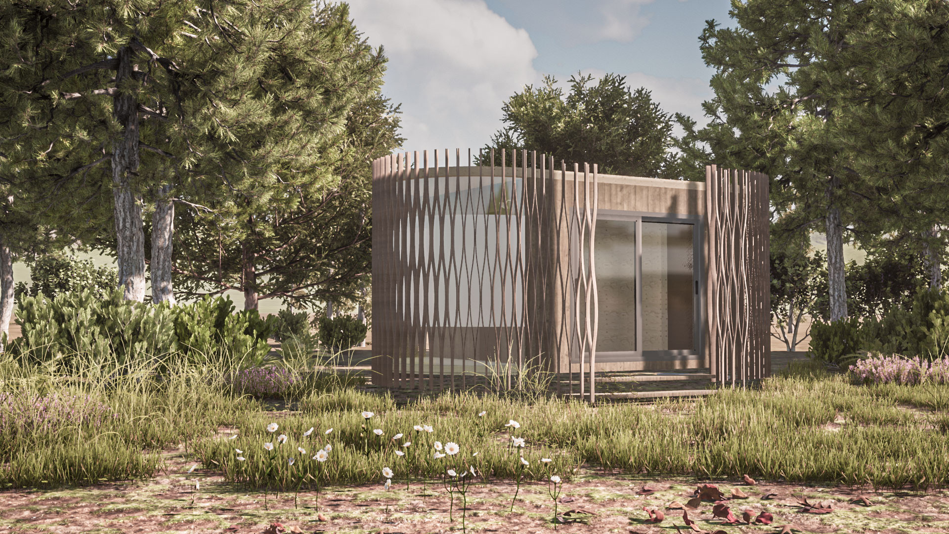 Luxury holiday pod in the welsh landscape