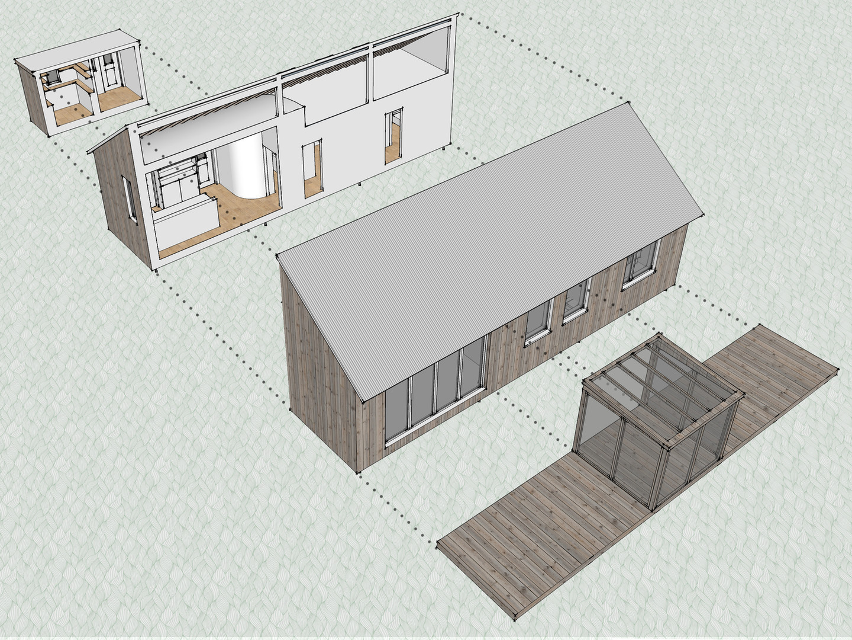Park home assembly diagram