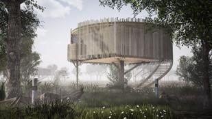 Castan tree house pod