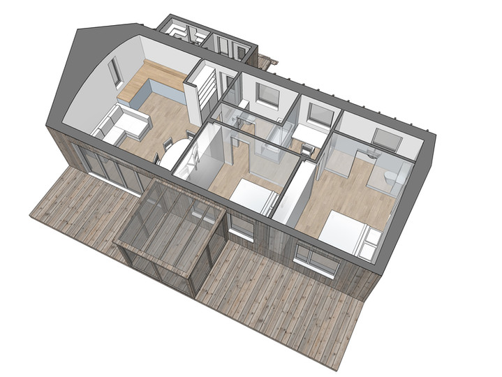 Perspective plan view of option 2