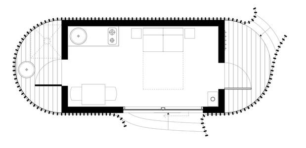 2.7 by 4.5 metre pod