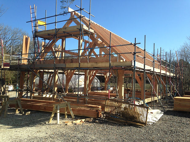 Traditional timber frame construction