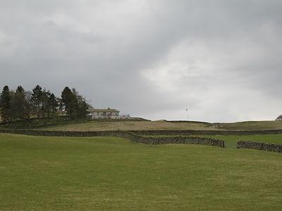 Eco home in Scotland with wind turbine