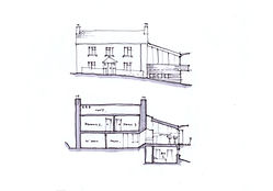Mark Waghorn Design, MWD architects + makers, sketch design for sustainable house extension, locally sourced timber, low impact design, west Wales, Carmarthenshire