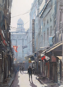 IstanbulMorning Contra Jour oil on canva
