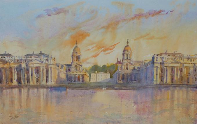 Fiery Sunset Greenwich
