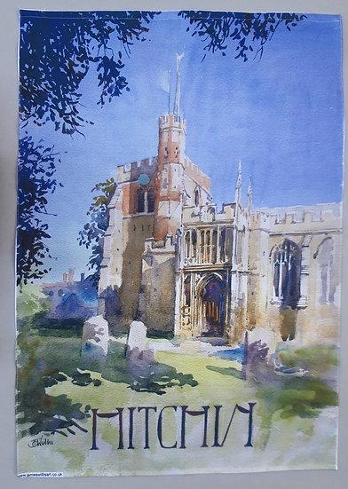 St Mary's Church, Hitchin Tea Towel