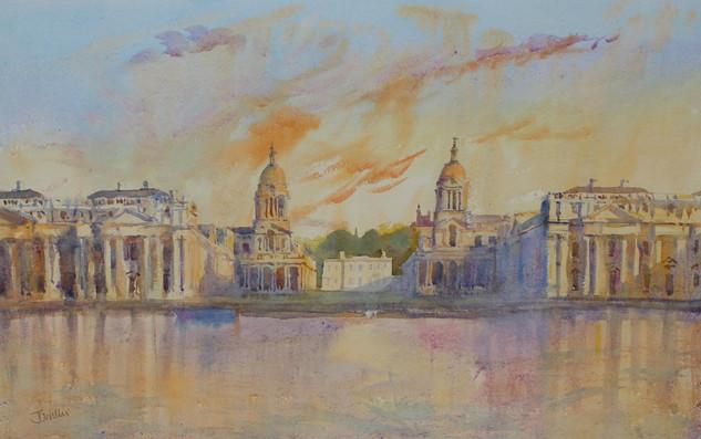 Flaming Sunset Greenwich