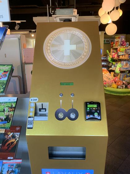 Machine à médailles souvenir