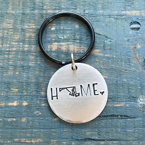 Maryland Home Keychain