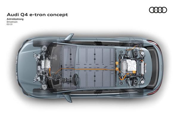 Audi Q4 e-tron concept 採用雙摩打設計。