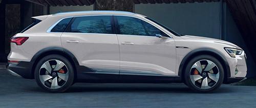 Audi e-tron 的外形跟同廠 Q 系 SUV 相若。