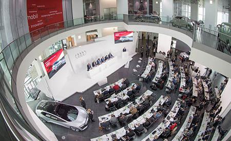 Audi 舉行全球年度新聞發布會。