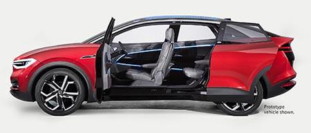 VW I.D. CROZZ 除了有趟門之外,還沒有 B 柱。