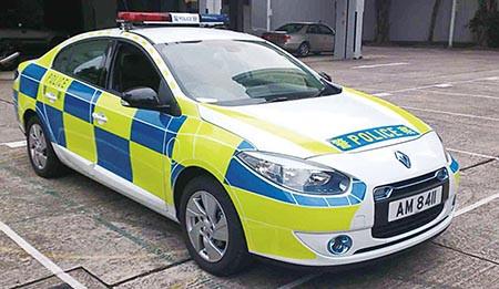 Renault Fluence ZE 香港警車