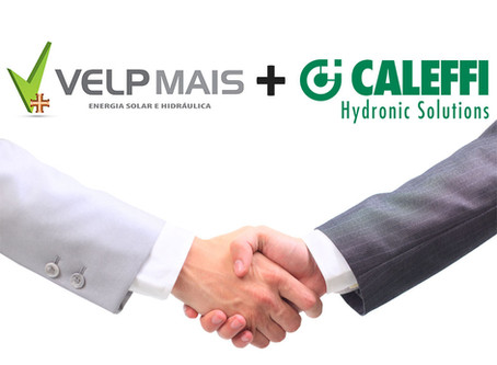 A Velp Mais começou a trabalhar com os produtos da conceituada marca CALEFFI