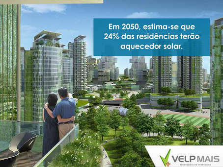 Em 2050 24% das residências terão aquecedor solar
