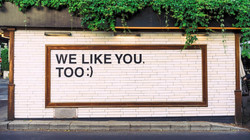 We like you too ;)