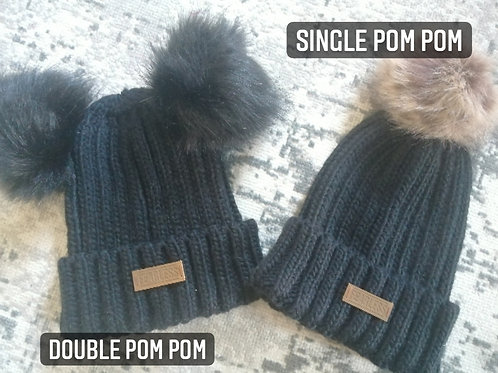 Fearless Adult PomPom Hat