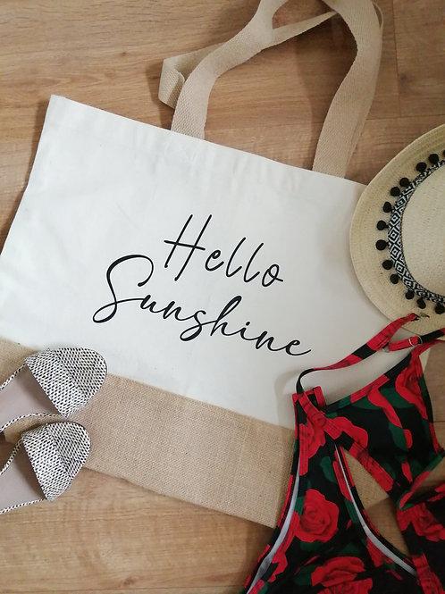 Hello Sunshine Beach Bag