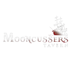 mooncussers name logo with ship