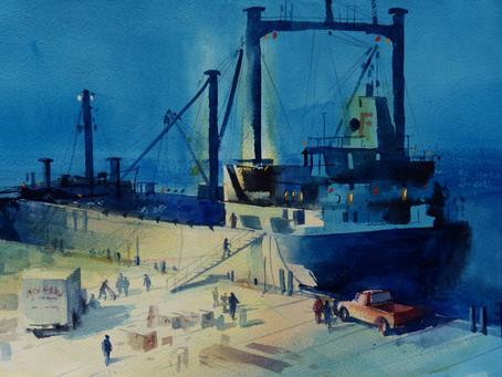 Night on the Wharf