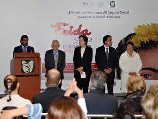 Inauguración Expo Frida Kahlo en el IMSS