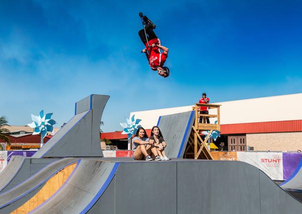 TX Stunt Jam 2019 - Scooter Rider Does 360 Flip Over Volunteers