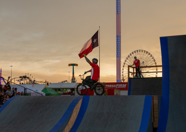 TX Stunt Jam 2019 - BMX Rider - at Sunset