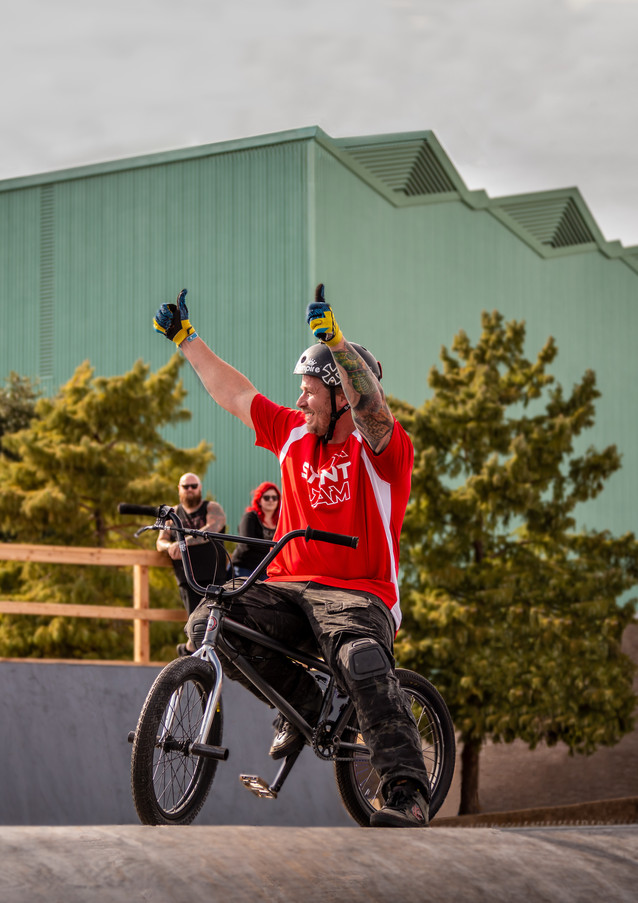 TX Stunt Jam 2019 - BMX Rider - 2 Thumbs Up after Trick