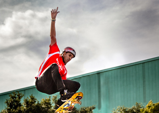 TX Stunt Jam 2019 - Skateboarder off Ramp