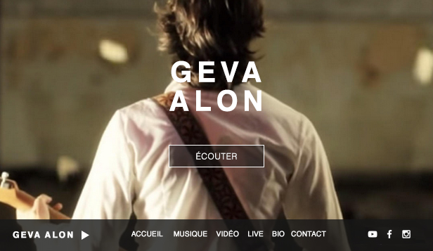 Musique website templates – Auteur Compositeur Folk