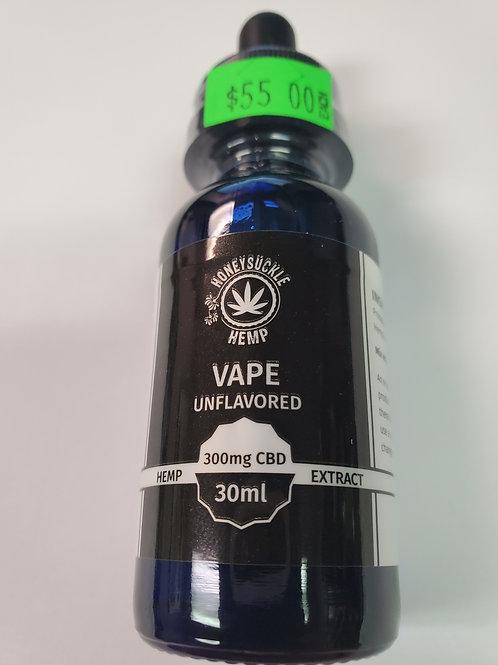 Honeysuckle Hemp Unflavored Vape Oil 30ml 300mg CBD with THC