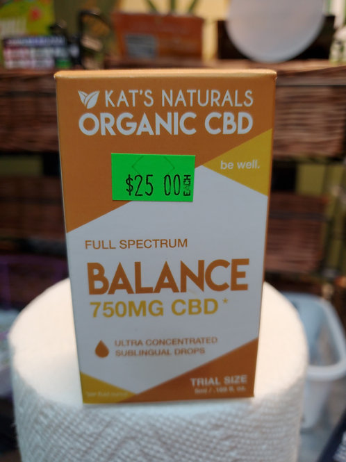 Kat's Naturals Balance 750mg 5ml Full Spectrum CBD Oil