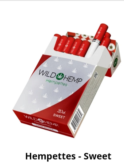 Wild Hemp Sweets and Pineapple Cigarettes 20 per pack- with THC TWO PACK BUNDLE