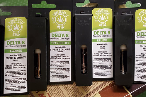 Delta 8 THC Carts 850 mg- Size 1 gram  Infused with Natural Terpenes